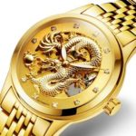New              DEFFRUN Business Style Full Steel Automatic Mechanical Watch
