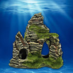 New              Mountain View Aquarium Rock Cave Stone Tree Bridge Fish Tank Ornament Decorations
