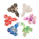 New              7Pcs Transparent Polyhedral Dices Multi-sided Dice