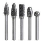New              5 Types 6mm Shank Tungsten Carbide Burrs 50.35-60.65mm Rotary File Grinding Head Abrasive Tool