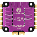 New              FLYCOLOR X-Cross 45A 3-6S 5V/3A 4IN1 ESC 48Mhz w/CNC Aluminium Alloy Quick Cooling Shell For FPV Racing RC Drone