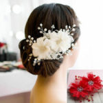 New              Women Crystal Rhinestone Hair Clips Flower Bridal Wedding Headpieces Accessories