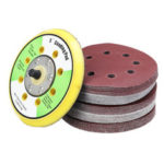 New              50pcs 125mm 60-240 Grit Sanding Sheet Pad Sandpaper with Attached Air Mill Disc