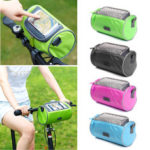 New              BIKIGHT 22cmx12cmx12cm Waterproof Screen Touchable Cycling Pannier Tube GPS Cell Mobile Phone Bags Bike Frame Bag For Mountain Bicycle