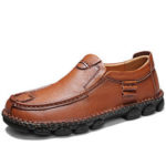 New              Spicing Cowhide Slip Resistant Soft Sole Business Loafers