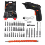 New              DC3.6V 1300mAh Mini Electric Screwdriver Drill Lithium Cordless Power Screw Driver Tool With Drill Bits