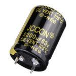 New              2200UF 63V 22x30m Radial Aluminium Electrolytic Capacito200UF 63V 22x30mm Radial Aluminium Electrolytic Capacitor High Frequency 105°Cr High Frequency 105°C