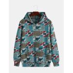 New              Mens Casual Loose Funny Printed Hoodies Sweatshirt