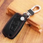 New              3Botton Pu Leather Car Key Case Cover For FIAT Panda Stilo Punto Doblo Grande Bravo