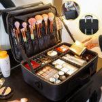 New              2/3 Tiers Makeup Bag Travel Cosmetic Case Desktop Beauty Brush Organizer Box Large Capacity Cosmetic Storage Bag