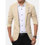 New              Men's Korean Solid Youth Slim Jacket Small Casual Suits