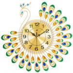 New              Peacock Wall Clock European-style Living Room Personality Creative Fashion Clock