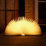 New              Wooden Folding Book Light Creative Flip Reading Book Lamp LED Night Light Mini Colorful Book Light