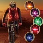New              Outdoor Light Up LED Fiber Light Reflective Safety Belt Vest Strap Night Sports Bike Light