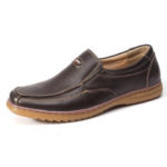 New              Menico Men Genuine Cow Leather Slip On Soft Casual Oxfords