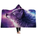 New              Soft Hooded Blanket Throw Winter Home Sofa Warm Plush Cloak 3D Printing Blankets Home Bedding