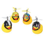 New              Car LED Decoration Light Little Yellow Duck Wearing Helmet Safety Warning Lights With Remote Control