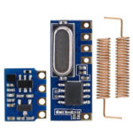 New              Long Range 433MHz Wireless Transceiver Kit Mini RF Transmitter Receiver Module + 2PCS Spring Antennas OPEN-SMART for Arduino – products that work with official Arduino boards