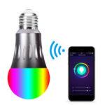 New              85-265V E27 7W WiFi RGBW LED Smart Light Bulb Work With Alexa Google Home Nest