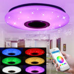 New              48W 102LED Dimmable RGBW Music Ceiling Light Starry Sky bluetooth APP Control