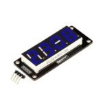 New              4 Digit LED Display Tube 7 Segments TM1637 50x19mm Blue Clock Display Colon RobotDyn for Arduino – products that work with official Arduino boards