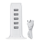 New              5 Port 4A USB Desktop Charger Quick Charging Station ABS Stand Charger