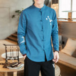 New              Men's Chinese Style Xianhe Embroidered Chinese Tang Suit Ret