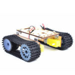 New              Small Hammer DIY Smart Wooden RC Robot Tank With Plastic Crawler Belt TT Motor For Arduino UNO