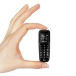 "New              Mini Thumb Mobile Phone 0.66"" Wireless Smallest bluetooth Mini Card Phone"