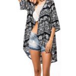 New              Women Summer Beach Floral Print Vintage Cardigans