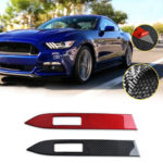 New              Carbon Fiber Interior Dashboard Panel Cover Trim Fit For Ford Mustang 2015-2019