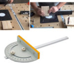 New              Mini Table Saw Circular Router Miter Gauge  DIY Woodworking Machines Angle Ruler