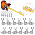 New              6Pcs/Set Tuning Pegs Keys Locking Tuner Heads 6R 6L for Electric Wooden Guitar Parts