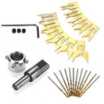 New              24pcs Drill Bit Rosary Cut Alloy Set Alloy Ball DIY Wood Rosary Bead Molding Woodworking Tool