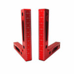 New              90 Degree Aluminium Alloy Positioning Squares Right Angle Ruler Woodworking Ruler