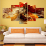 New              New 5Pcs Star Clusters Abstract Art Paintings Print Picture Oil Canvas Home Decor