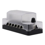 New              20A 6 Circuit Fuse Block Box with Negative Ground Bus Bar Terminals Holder For Car Boat Caravan