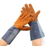 New              Welding Gloves Welders Work Soft Cowhide Leather Plus Gloves for Protecting Hand Tool