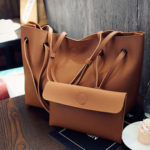 New              2pcs Women Leather Large Shoulder Messenger Shopping Bag Purse Handbag Tote