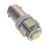 New              T11 BA9S T4W 5050 SMD Wedge Side 5LED Light Bulb Xenon White Car Lamp DC12V