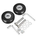 New              2 Sets Luggage Suitcase Replacement Wheels OD 43 ID 6 W 18 Axles 30 Repair Tools