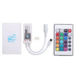 New              DC9-12V Mini WiFi RGBW LED Strip Controller + 24 Keys IR Remote Control Work With Alexa Google Home