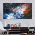 New              Unframed 43×24 inch Space Galaxy Universe Planet Poster Fabric Silk Paintings Wall Print Art Home Decor