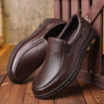 New              Cow Leather Slip Resistant Soft Sole Business Oxfords