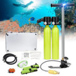 New              Water Sports Diving Set Equipment 0.5L Scuba Oxygen Cylinder Tank Inflation Pump Diving Mask Adapter Storage Box Underwater Breathing Tools