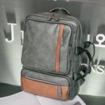 New              Men Faux Leather Dual-Use Multifunctional Backpack Handbag