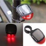 New              BIKIGHT 70×55×20mm Solar Powered Flashing LED Rear Tail Light Night Cycling Lamp For Electric Bicycle Mountain Bike