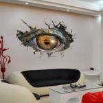 New              Dinosaur Eyes 3D Art Wall Sticker Living Room Decoration Wall Stickers Bedroom  Kids Room Decor