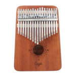 New              Cega 17 Key Mahogany Kalimbas Thumb Piano Finger Percussion Nordic Style with Tuning Hammer