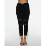 New              Women Ripped Distressed High Waist Stretch Skinny Jeans